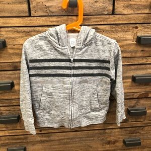 Gap Girl's Gray Hooded Jacket Size 4/5